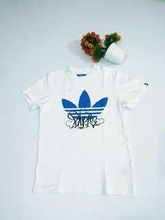 Adidas Originals Paris Trefoil White Tee Original