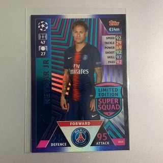 🚚 [SPECIAL OFFER] Topps Match Attax Champions League 2018/2019 Neymar Super Squad Limited Edition