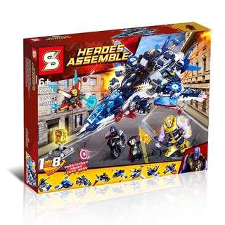 SY™ 1221 Avengers™ The Rage of Quinjet 8in1 Combine