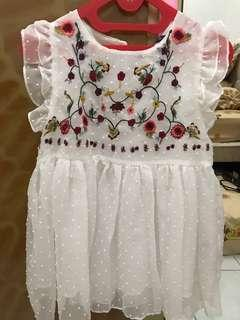 Zara floral embroidered