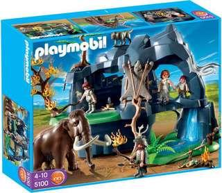 Playmobil 5100 Stone Age Cave without Mammoth
