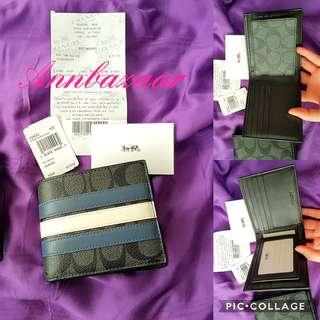 INSTOCK SPECIAL OFFER! Coach Varsity Billfold 3 in 1 Wallet (100% Authentic)