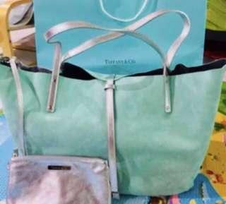 🚚 Tiffany reversible blue bag