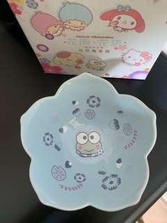 7-11花雨花語keropi 陶瓷碗