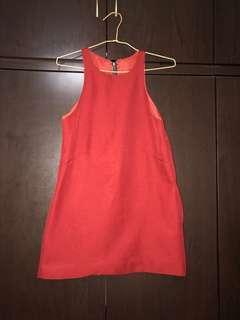 🚚 Dark Red A-line Dress