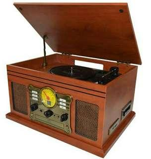 Bauhn australia vintage style turntable with cassette