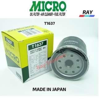 Nippon Micro Oil Filter T1637 90915-20001 , TOYOTA  Dyna 150 1KD-FTVKDY231R , TOYOTA  Hiace KDH221R-1KD-FTV , KDH223 -1KD-FTV , KDH212 - 2KD-FTV  ,TRH223 - 2TR-FE