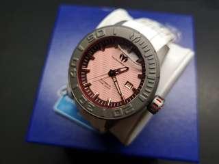 TechnoMarine Titanium Reef 鈦金屬腕錶 (紅面白膠帶)