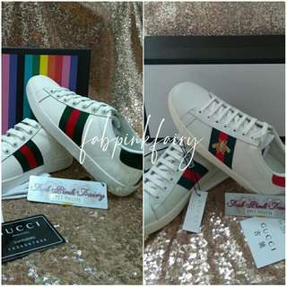 48b388fa16236 36 CLEARANCE SALE Gucci Ace Sneakers GG Ace Sneakers Gucci Ace Bee Sneakers  Gucci Bee Sneakers
