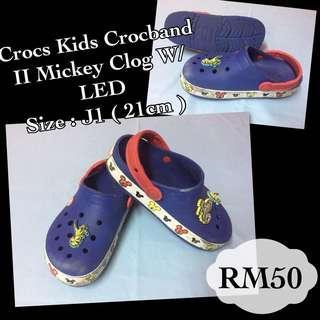 Crocs For Kids Crocband II Mickey W/LED