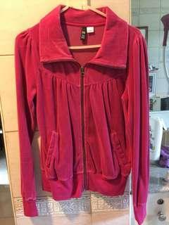 Hot pink suede jacket