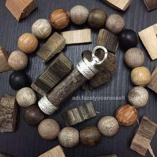 "Customer's Meteor Dust & Bracelet : 5 ""Petir Woods"" + Root of Penawar + Kayu Ibor & B. Kalak"