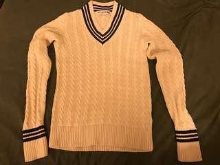 🚚 【Uniqlo】英倫風針織上衣 米白 #半價衣服市集