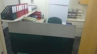 辦公室 reception desk L型枱 steelcase 辦公桌