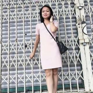 🆕BRAND NEW Ribbed V Neck Cotton Dress Pink Dress