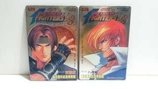 全新 1999年 拳皇98 VOL.42 43 紀念特別版 磁石鐵片連公仔磁貼 2塊 10元全部2塊 (K)