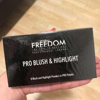 freedom pro blush and highlight