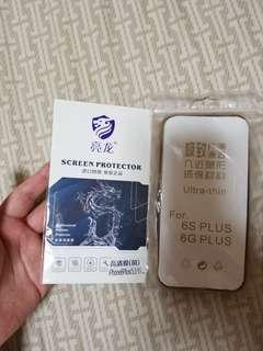 iPhone 6 plus screen protector and case
