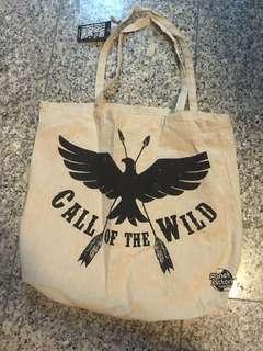 🚚 Factorie Canvas Tote Bag Bird Call of the Wild