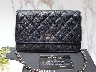 Chanel WOC in Black Caviar with Silver hardware