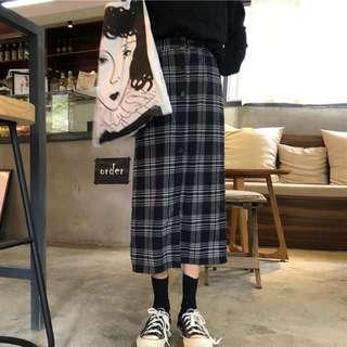 🆕BRAND NEW Checked Button Pencil Midi Skirt