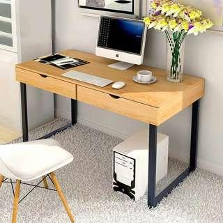 MALONE Modern Industrial Wooden Study Table