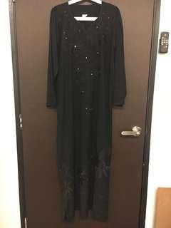 Black Jubah with embroidery
