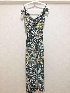 Baju Pantai Beach Dress Flower Dress