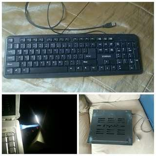 Keyboard + cooling fan + USB light led #50TXT