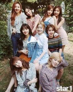TWICE Star1 MAGAZINE JUNE ISSUE 2017