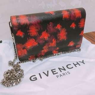 Givenchy 單肩包 銀包袋 黑紅色印花