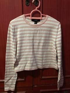 Forever 21 long sleeves cropped top