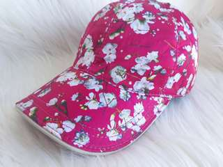 89c35d09 Authentic Gucci Cerise Blooms print silk baseball hat