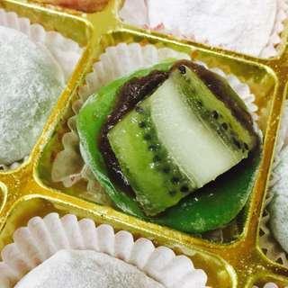 Homemade fruit mochi