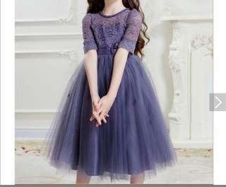 購自日本全新溫柔紫系裙(原價$720)謝師宴 飲宴 (可議價