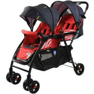 Instock !!! Twin stroller lightest tandem double stroller pram