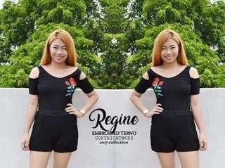 Regine embroided terno