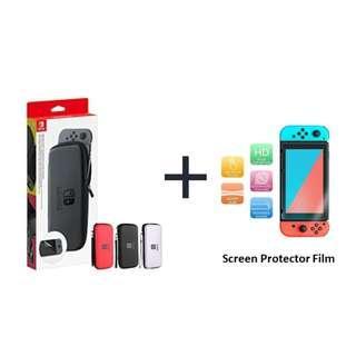 Nintendo Switch EVA Hard Shell Case + Screen Protector Film Combo