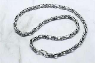 6mm  925泰銀環扣項鏈