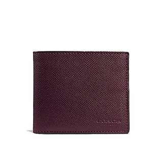 Coach Men Compact ID Wallet in Crossgrain Leather