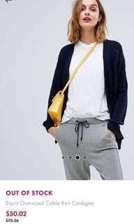 Esprit Oversized Cable Knit Cardigan