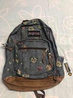 Jansport floral denim backpack