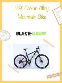 "🚚 Bicycle 29"" Crolan Alloy Mountain Bike Green"