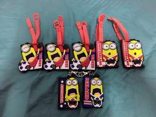 (All for RM5) 7 eleven minion luggage tag and key chain