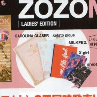一套5件 ZOZO Mlikfed xgirl gelato pique carolina glaser 收納袋 pouch bag snidel