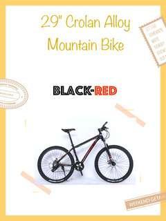 "🚚 Bicycle 29"" Crolan Alloy Mountain Bike Red"