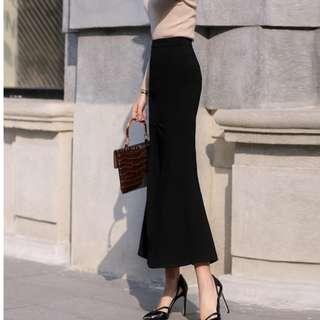 🆕BRAND NEW Black Maxi Fish Tail Princess Skirt