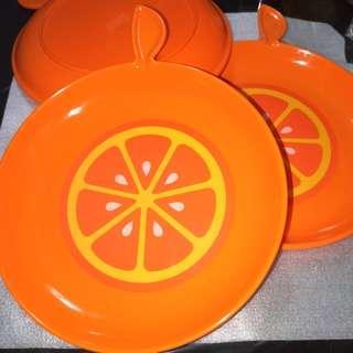 🚚 BN F&N Fruit Tree Fresh Orange Plastic Plates