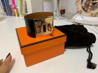 Hermes 黑金Pm size 皮 手環