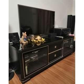 Good condition Tempered Glass Top TV Cabinet